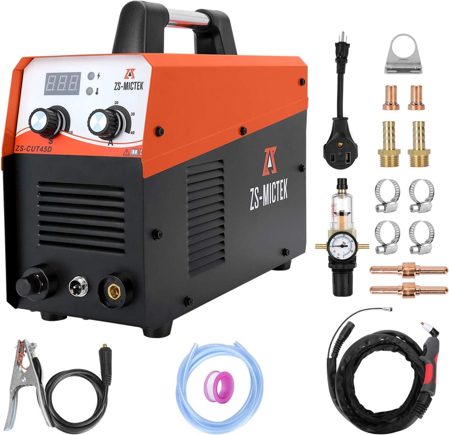 Plasma Cutter 45Amp Dual Voltage Max 86% OFF 1 Cut Clean 110 2