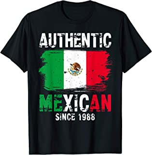 Authentic Mexican Since 1988 Gifts Mexico Flag Distressed