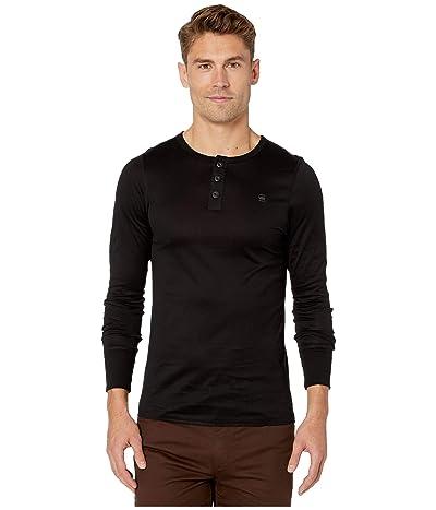 G-Star Korpaz Slim Granddad Mercy Jersey Long Sleeve T-Shirt (Dark Black) Men
