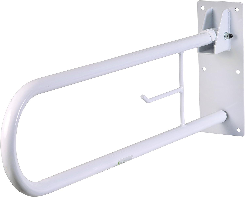 HealthSmart Fold Away Grab Bar Handrail Shower Safety Rail, Whit