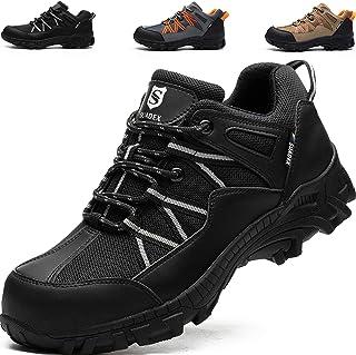 SUADEEX Chaussures de Travail Homme, Chaussures de Sécurité Hommes, Protection de la tête en Acier, Anti-Pression et Anti-...