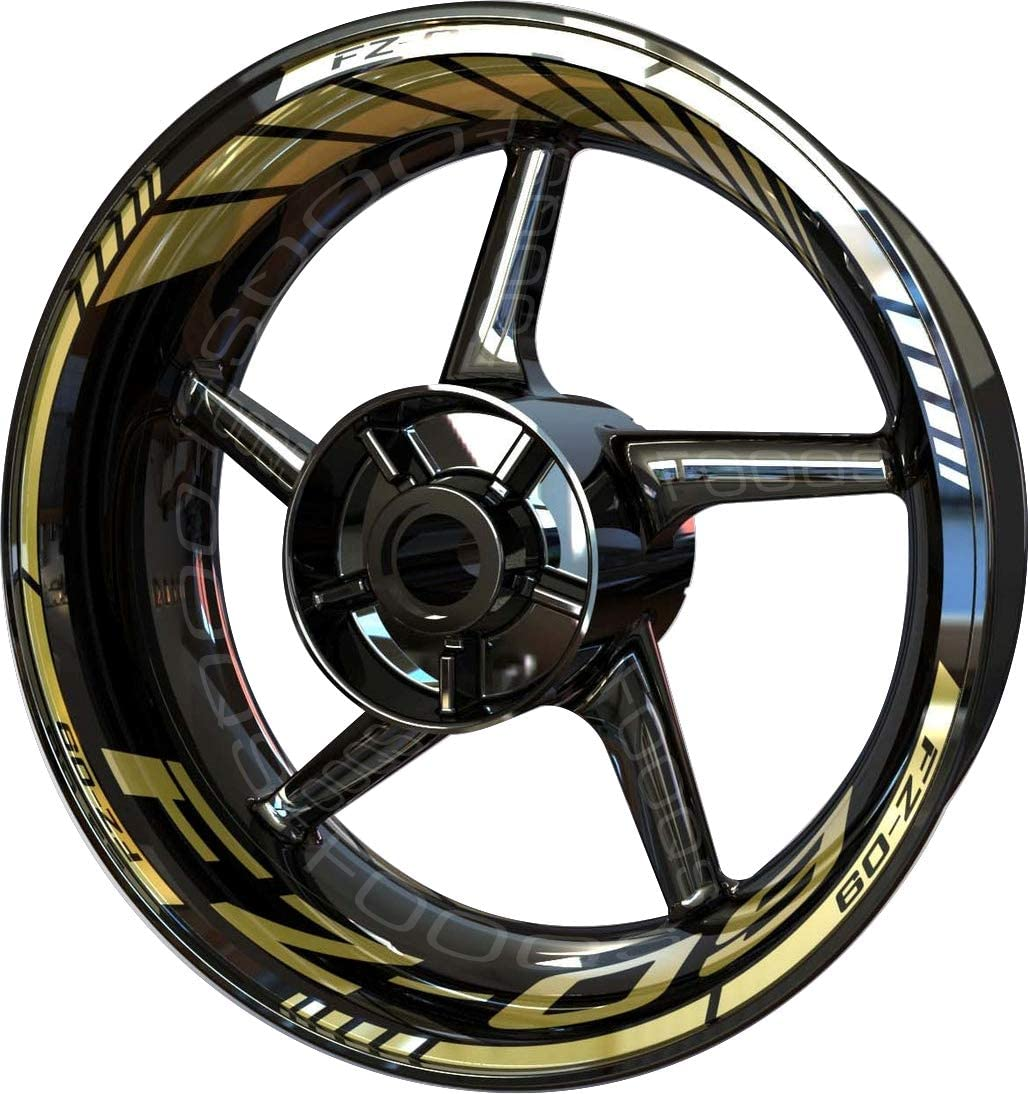 Motorcycle Rim Sticker F2 for Yamaha Recommended FZ 09 FZ-09 FZ09 OFFicial Gold