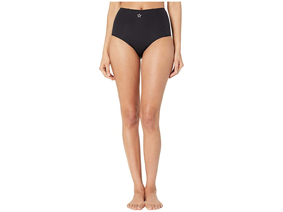 Stella McCartney Fine Lines High-Waisted Bikini Bottoms (Black) Women