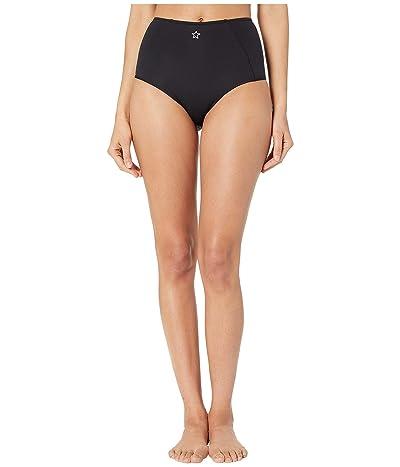 Stella McCartney Fine Lines High-Waisted Bikini Bottoms (Black) Women