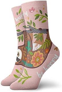 Novedad Divertido Crazy Crew Sock Cute Sloth Bear Impreso Sport Calcetines deportivos 30cm de largo Calcetines personalizados de regalo