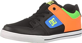 DC Boys' Pure Elastic SE Skate Shoe, Black Multi, 1.5 M M US Little Kid