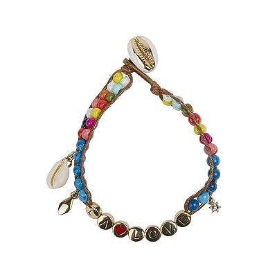 Rebecca Minkoff LA Love Beaded Bracelet (Gold/Blue) Bracelet