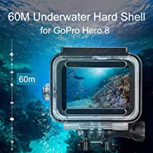 Mainstayae 60m Underwater Waterproof Hard Shell Replacement for GoPro Hero 8 Black Protective Shell Cover Housing Camera Lens 60M Diving Swimming Accessories