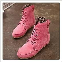 LOVELY&SWEET Autumn Winter Women Boots Matte Flock Boots Female Ladies Low Heel Shoes