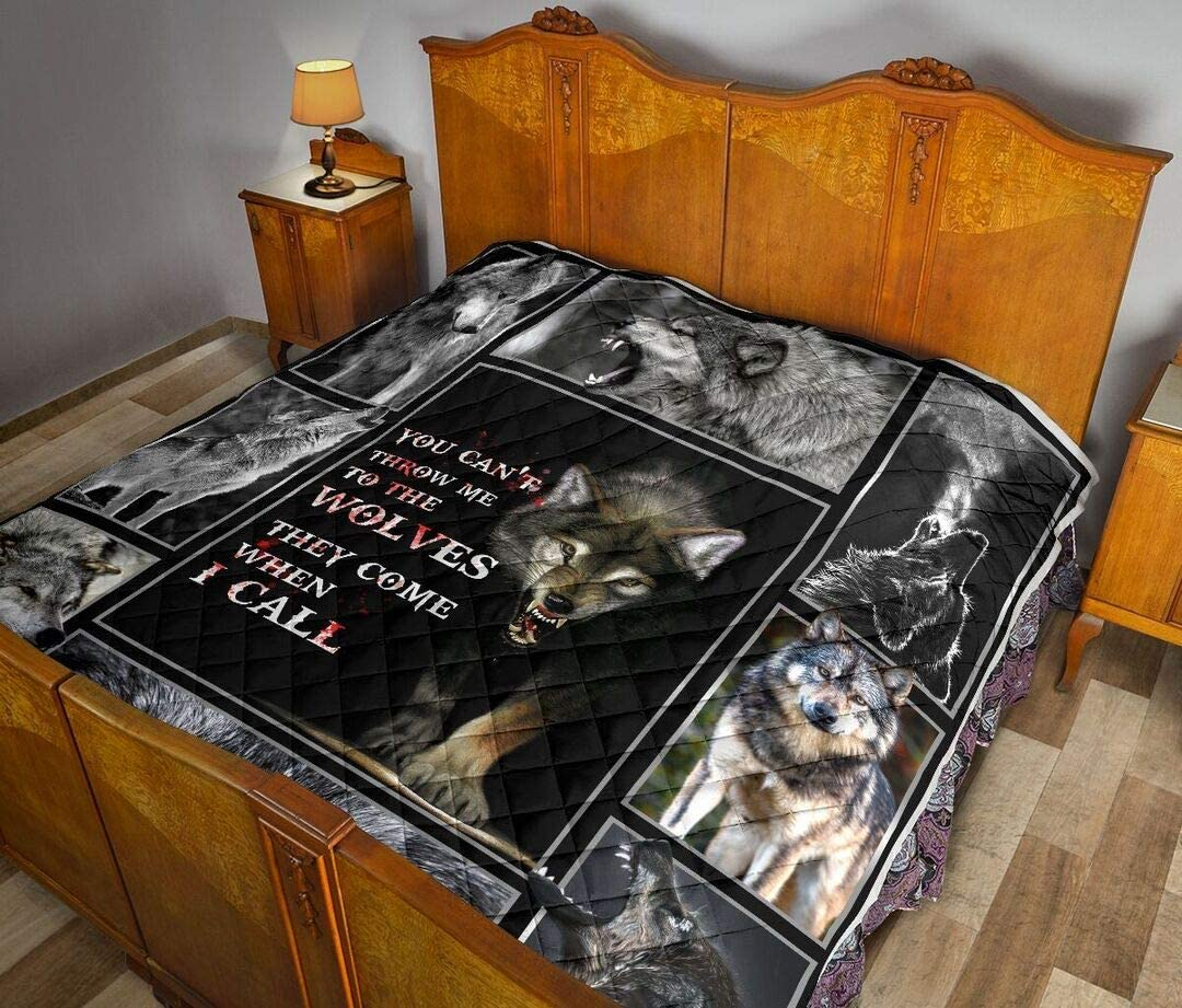 Personalized Wolf Outstanding Max 62% OFF Blanket Gift Classic Patrick's Day Quilt
