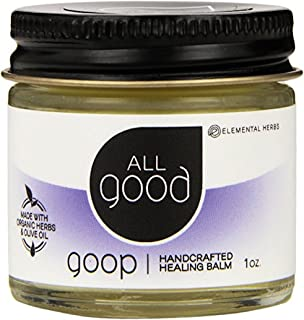 All Good Goop Organic Healing Balm & Ointment | For Dry Skin/Lips, Cuts, Scars, Blisters, Diaper Rash, Insect Bites, Sunburn, & More (1 oz)