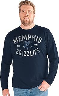 G-III Sports NBA Memphis Grizzlies Big Man Bank Shot Long Sleeve Top, 5X, Navy