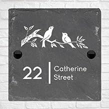 Be-Creative Rustieke natuurlijke leisteen huis poort teken gepersonaliseerd naambord - (20cm x 15cm)