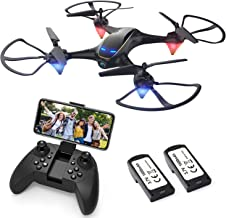 $69 » Drones with Camera for Adults Long Flight Time, EACHINE E38 WiFi FPV Quadcopter Drone with 720P 120°FOV HD Camera Live Video Selfie RC Drone for Kids and Beginners Indoor and Outdoor 2 Pcs Batteries