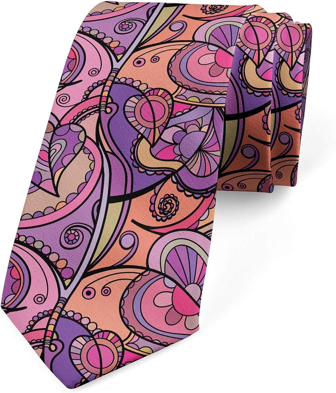 Ambesonne Necktie, Modern Marbling Art Design, Dress Tie, 3.7