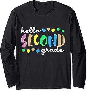 Hello 2nd Second Grade Fun Back To School Long Sleeve T-Shirt