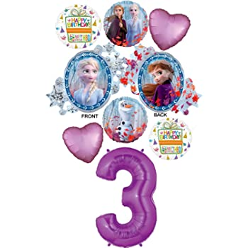 Frozen Balloon Bouquet 3rd Birthday Party Supplies Decoration Balloons Ana Elsa