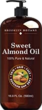 Brooklyn Botany Sweet Almond Oil for Skin – 100% Pure and Cold Pressed – Carrier Oil for Essential Oils, Aromatherapy and ...