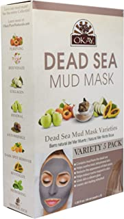 OKAY | Dead Sea Mud Mask - Variety Pack | For All Skin Types | Hydrate | Nourish | Replenish | 5 packets - 1.5 oz each