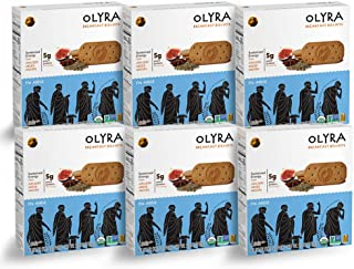 Olyra: Organic Breakfast Biscuits - USDA Organic - Non-GMO - All Natural Ingredients - Made With Ancient Greek Whole Grains - Sustain Energy Levels - Plant Based- 6 Boxes (24 Packs, 3 Biscuits/Pack)