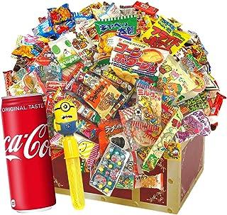 駄菓子詰め合わせお楽しみ40種80点セット!+コカ・コーラ500m×1缶付 お誕生日 イベントやパーティーにもどうぞ。子どもたちがデコって遊べるわくわく駄菓子