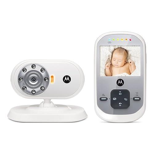 """Motorola Baby MBP 622 - Babyphone vidéo avec écran 2.4"""", éco mode et vision nocturne, couleur blanc"""