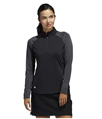 adidas Golf Solid UPF Polo Shirt (Black) Women