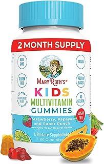 Kids Vitamins by MaryRuth's, Vegan Multivitamin Gummies with Organic Ingredients, Immune Support...