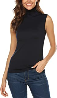 high neck sleeveless shirt