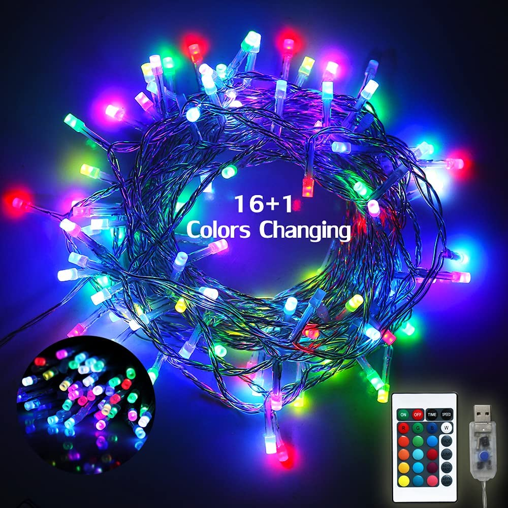 Free shipping 16 Color Changing Fairy Inexpensive String Purple Colorful Blue Lights Pink