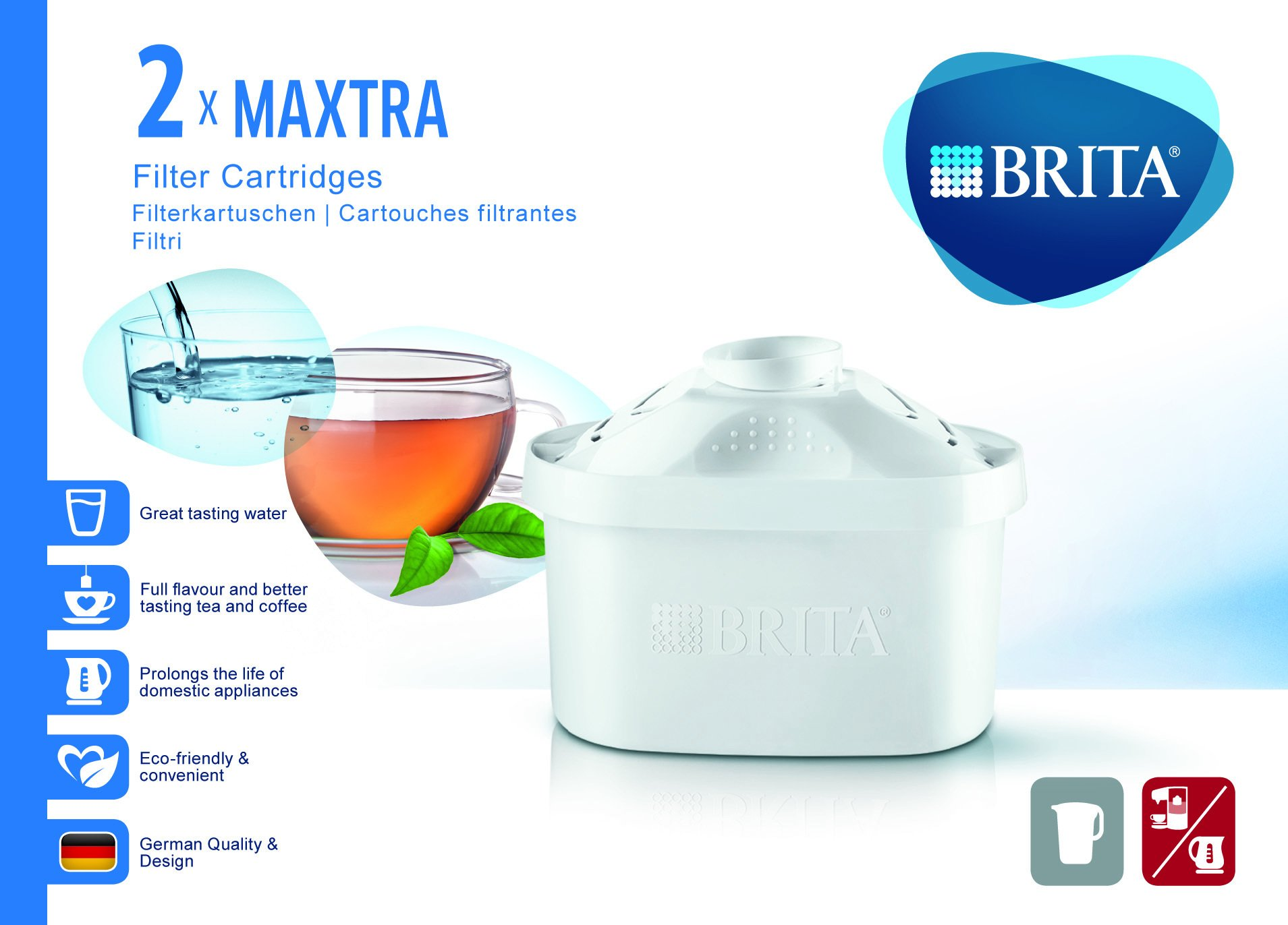 BRITA Mesa Agua Filtro de Cartucho Maxtra de purificador de Agua OVP neutralizador de Agua: Amazon.es: Hogar