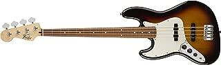 Fender Standard Jazz Electric Bass Guitar - Left Handed - Pau Ferro Fingerboard, Brown Sunburst