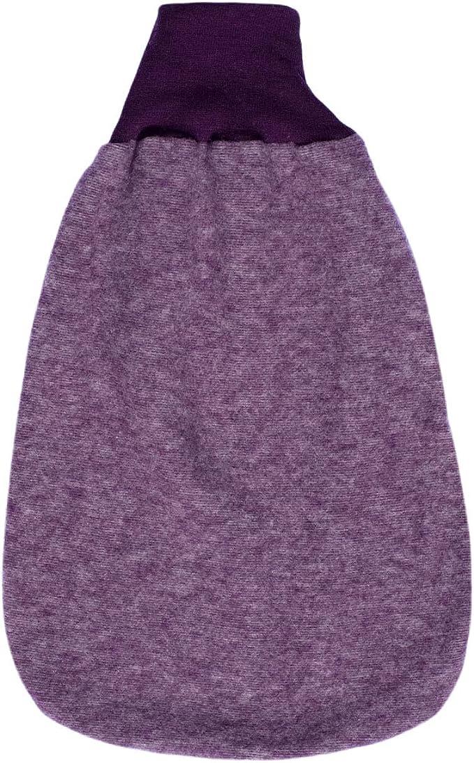 Baby Cosilana Baby Strampelsack Fleece, 60% Wolle (kbT), 40% Baumwolle (KBA) Lila-melange