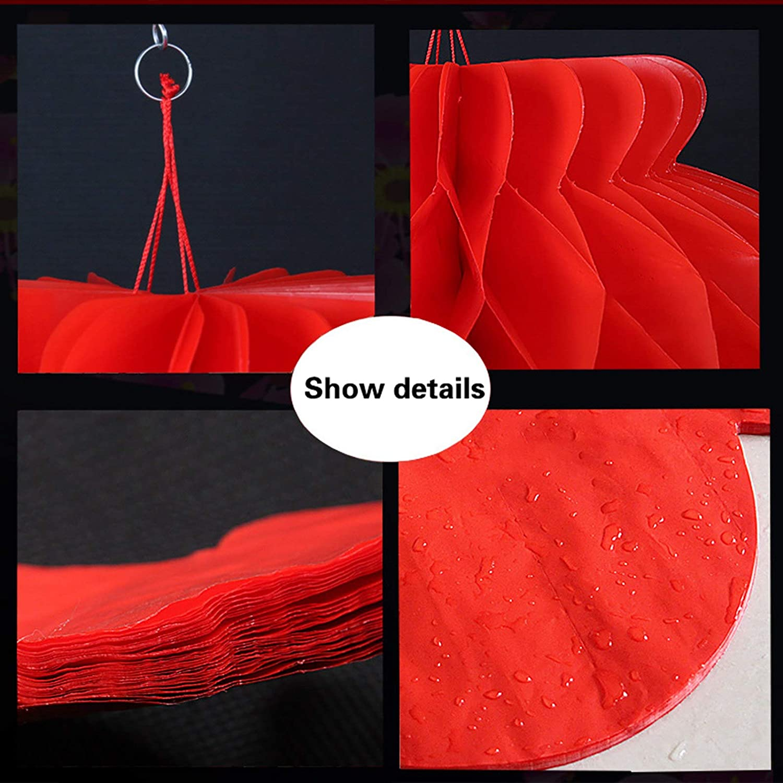 f/ête et anniversaire de mariage Pour festival 20 cm Lanternes printani/ères gerFogoo Lot de 10 lanternes rouges en papier pour le Nouvel An chinois