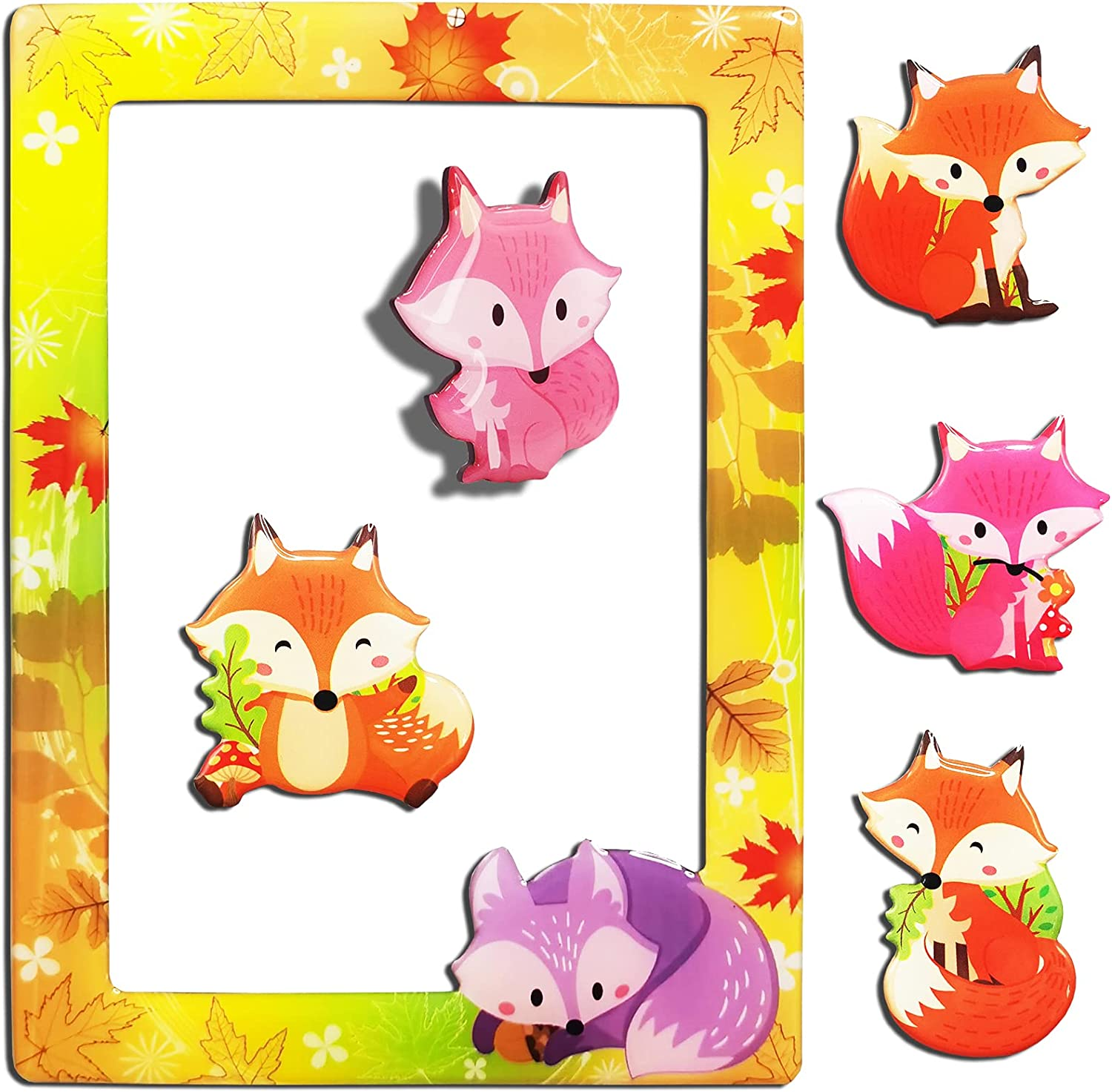 Magnetic Picture Frame store - Colorful 4x6 Save money Pcs Photo with 5 Fox