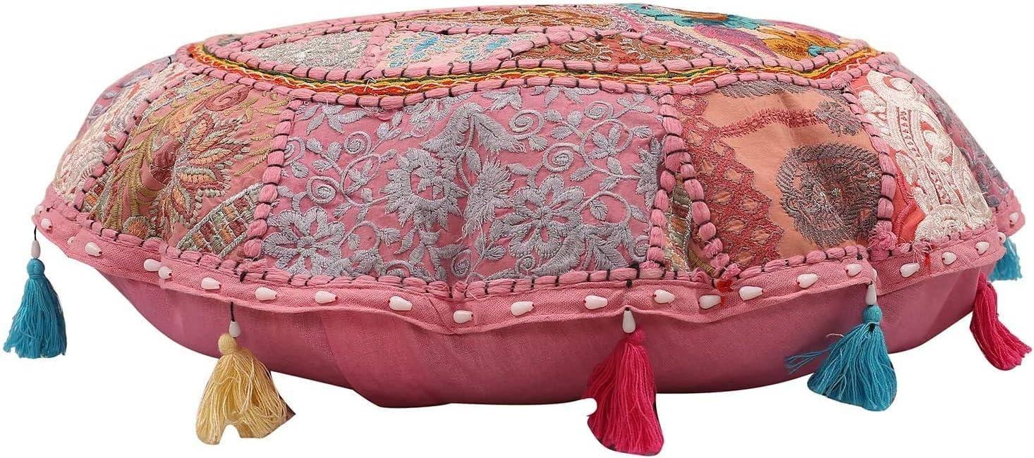 Janki Creation Indian Cotton Round Floor Cover Pillow Hippie Pat trend San Antonio Mall rank