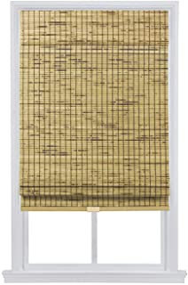 The Shade & Shutter Factory Colorado Cordless Bamboo Roman Shades (Natural 27 in. W x 64 in. L)