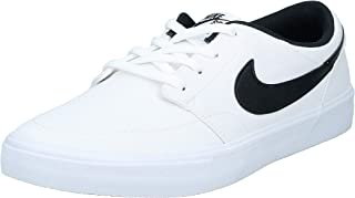 Nike Sb Portmore Ii Solar Cnvs, Men's Skateboarding Shoes, (White/Black 100), 8 UK (42.5 EU)