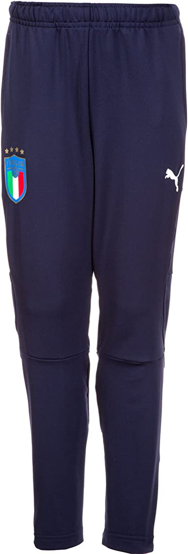 PUMA FIGC Italia Jr Men's Training Trousers with Zip Pockets ...