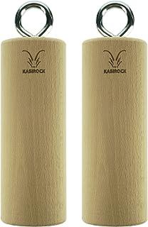 KASIROCK - Juego de 2 Barras Redondas de Madera de Haya Maciza para Entrenamiento eficaz de Escalada, Fuerza y Fitness