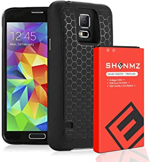Galaxy S5 Battery,7800mAh Galaxy S5 Extended Battery Replacement with Black Protection..