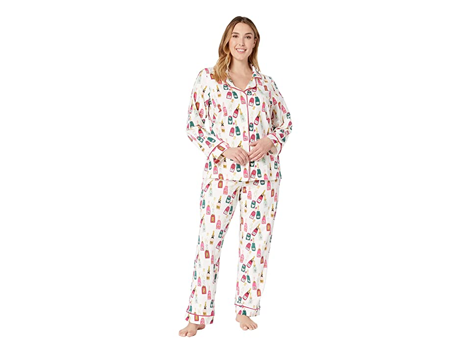 BedHead Plus Size Long Sleeve Classic Notch Collar Pajama Set (Celebration) Women