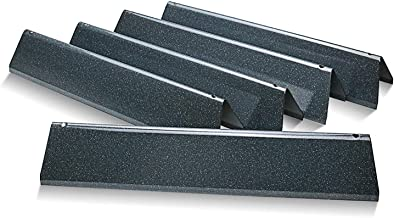 Uniflasy 7636 15.3 Inches Flavor Bars for Weber Spirit 300 Series, Spirit E310 E320 E330 S310 S320 S330 Gas Grills (with Front-Mounted Control Panel), 5-Pack Porcelain Steel Heat Plates for Weber 7636