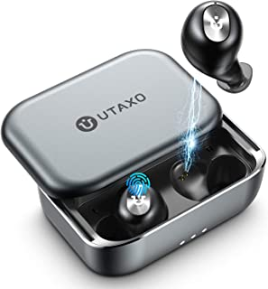 $54 Get Wireless Earbuds,Bluetooth V5.0 in-Ear Stereo Headphones with 2200mAh Slide Aluminum Charging Case,Bluetooth Earbuds IPX7 Waterproof,Free to Switch Single/Twin Mode with 100Hours Playtime [UTAXO]