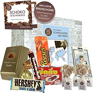 "Premium gift box ""Chocolate Around The World"" with chocolate from all over the world"