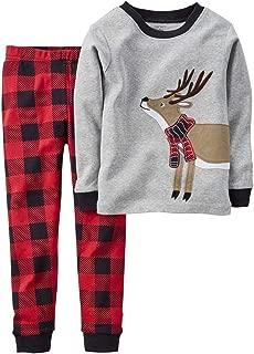 Toddler Boys Pajamas Fire Truck 100% Cotton Kids Train 2 Piece Pjs Sets Sleepwear Clothes Set 1-7 T