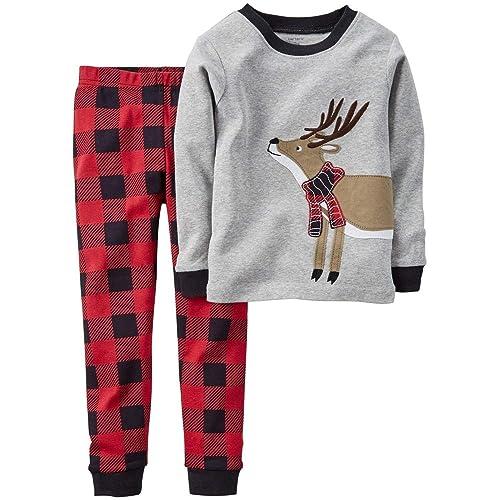 Toddler Boys Pajamas Fire Truck 100% Cotton Kids Train 2 Piece Pjs Sets  Sleepwear Clothes cd9e56fef