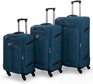 Senator 3 piece luggage trolley set (LW010-3-Blue)