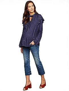 94900a2c34a59 A Pea in the Pod Luxe Essentials Denim Secret Fit Belly Boot Cut Maternity  Crop Jeans