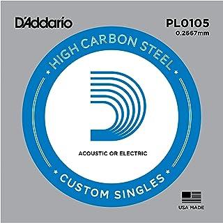 D'Addario PL0105 Plain Steel Guitar Single String.0105